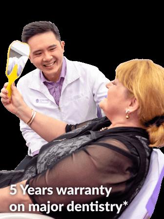 5 Years Warranty on Major Dentistry